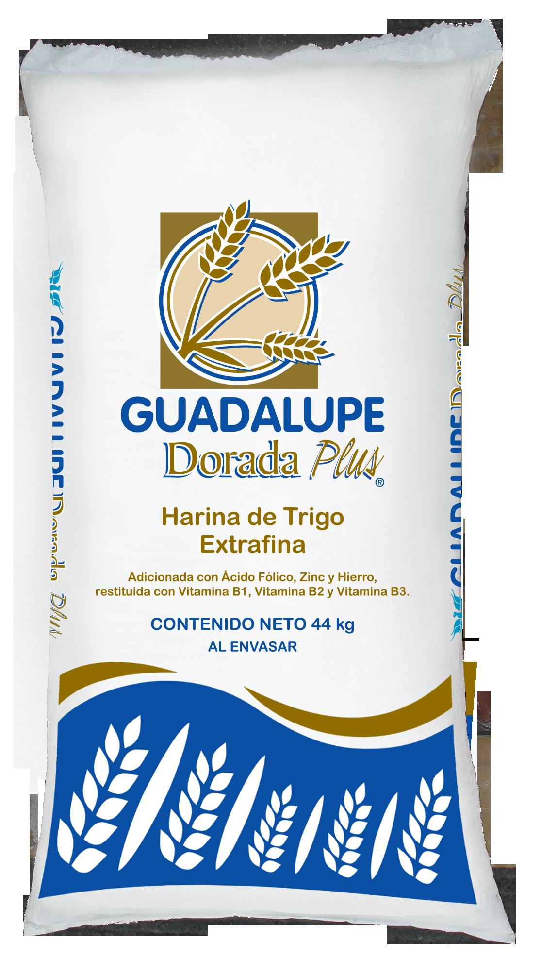 Presentaciones de Harina de Trigo Guadalupe Dorada Plus